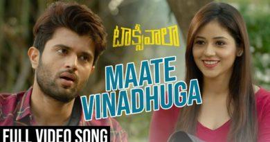 Maate Vinadhuga song lyrics in English - Taxiwala