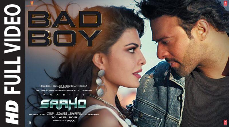 Bad Boy song lyrics in English - Saaho