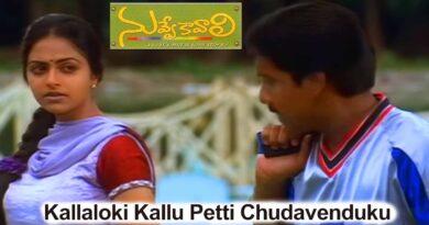 Kallaloki-Kallu-Petti-Chudavenduku-song-lyrics-Nuvve-Kavali-1